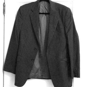 Men's Blazer grey pinstripe wool